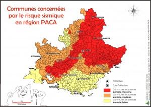 zones sismiques paca